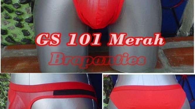 CD G string Pria GS 101 Merah