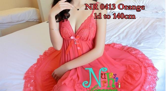 Baju Tidur Tembus Pandang NR 0413 Merah Orange