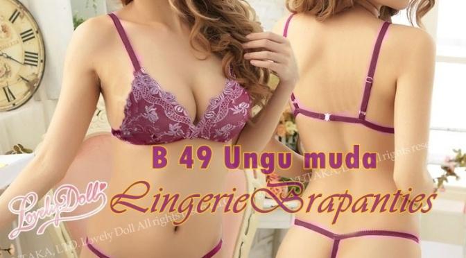Jual Bra Seksi Online B 49 Ungu Muda