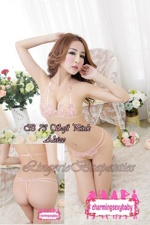 Bra Open Seksi B 73 Soft Pink