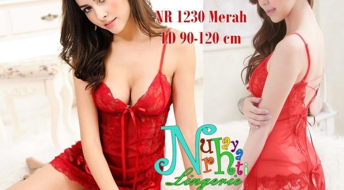 Baju Tidur Seksi NR 1230 Merah
