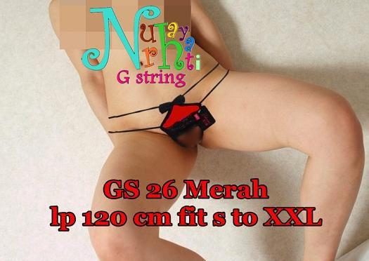 G string Cewek Jumbo Open Croth GS 26 Merah